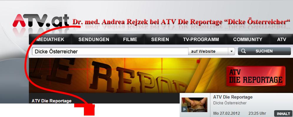 Dr. med. Andrea Rejzek bei der ATV